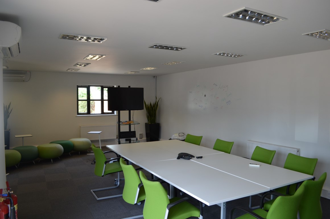 finished refurbished meeting room