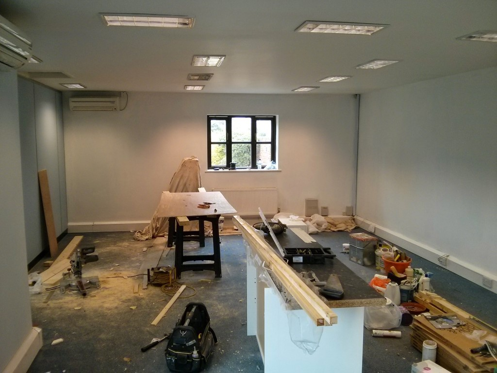 office half way through refurb