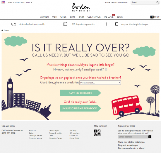 boden unsubscribe