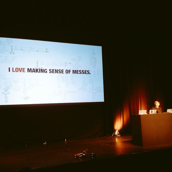 Abby Covert presenting at UX London 2016