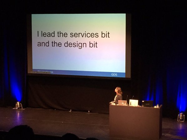 Louise Downe speaking at UX London 2016
