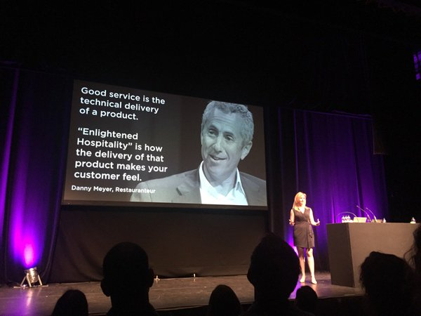 Melissa Perri talking at UX London 2016
