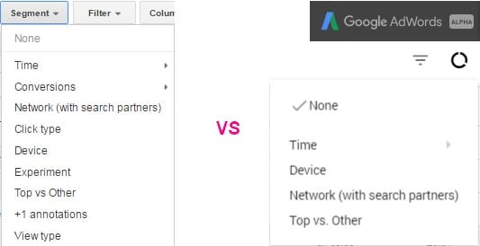 adwords alpha - segments
