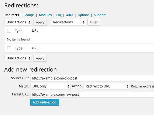 WordPress Redirection Plugin