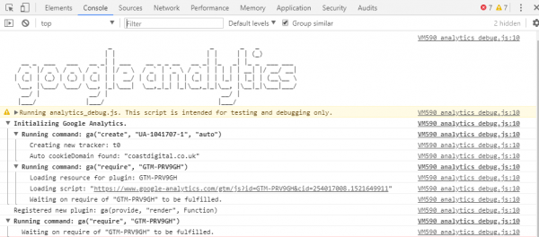 google analytic debugger