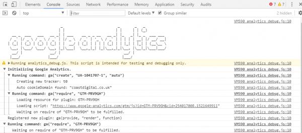 google analytic debugger