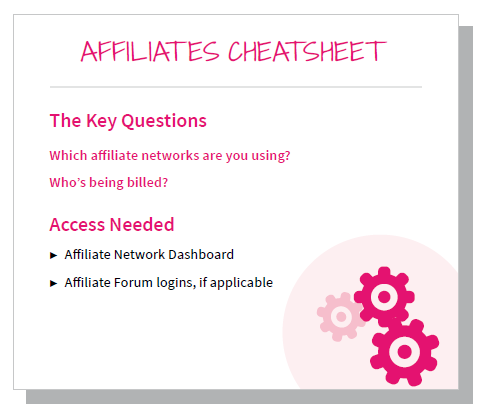 affiliates cheatsheet