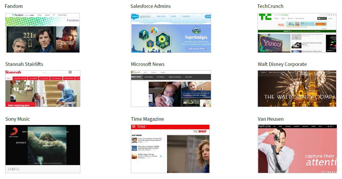 Global brands powered by WordPress