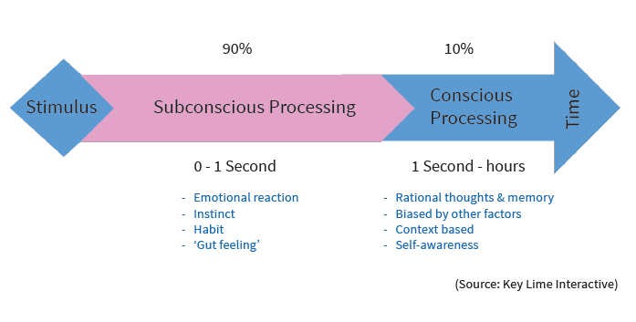 stimulus processing arrow diagram