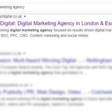 digital marketing agency serp small