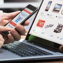 ecommerce shopping on mobile and desktop