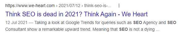 Think SEO is Dead?