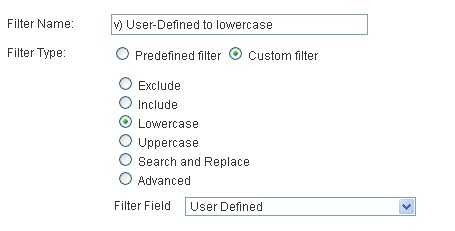 user-defined to lower case