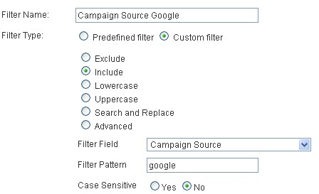 Campaign source Google