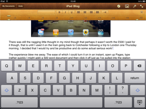 iPad Pages App