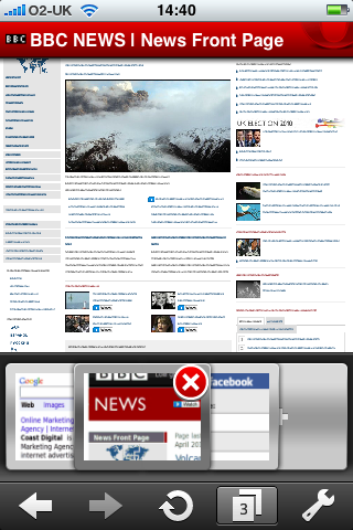 Opera Mini tabbed browsing