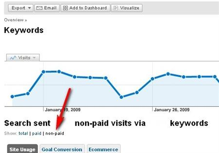 Screenshot from Google Analytics