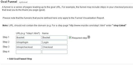 Analytics Goal Funnel